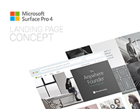 Microsoft Surface Pro 4 Landing Page Concept
