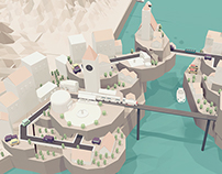Low Poly Town Animation