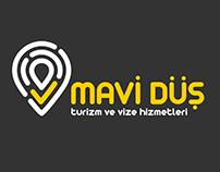 Mavi Düş / Vize Dünyası Logo Çalışması