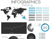 infographic pack V1 free PSD download file