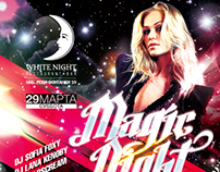 White Night Club party poster