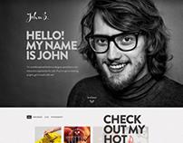 JOHN - Responsive One Page Portfolio Joomla Template