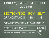 2014 Red Sox Season Tickets
