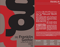 Pôster Tipográfico - Franklin Gothic