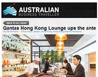 AUSTRALIAN BUSINESS TRAVELLER - QANTAS HONG KONG LOUNGE
