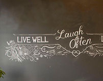 Hand Illustrated Chalk Wall Installations