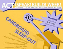 Habitat For Humanity. Act! Speak! Build! Week!