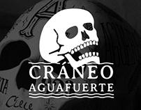 Cráneo ilustrado: Aguafuerte.
