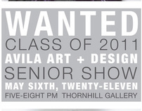 Avila University Senior Show Poster