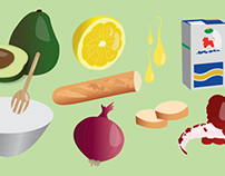 ANIMATED RECIPES BOOK Illustration project
