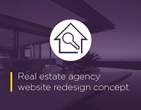 Redesign concept - Real Estate Agency website