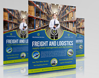 Freight and Logistic Services Flyer Template Vol.4