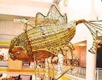 Koi Rattan Sculpture