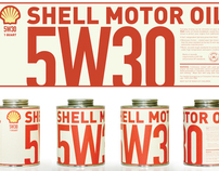 Shell Motor Oil Packaging