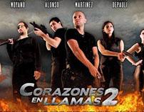 Afiches Corazones en Llamas 2