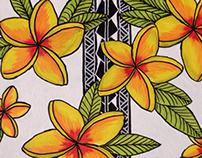 Plumeria Wallpaper Painting
