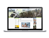 Webdesign proposal for fitness trainers
