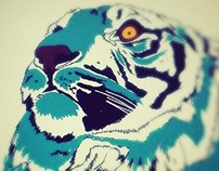 Tiger on tablet