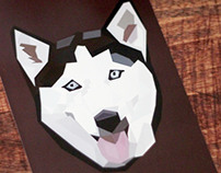 Geometric Illustration: Husky