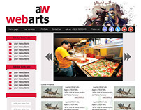 Awebarts site Template