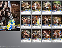 Warriors - calendar project for Vive Tauron Kielce