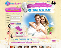 Lover Game Dating Site UI Design