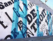 Typographic Mural | Blue Dome District