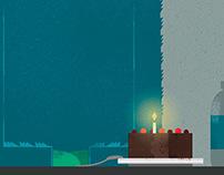 Yeti  Birthday Party ( no success) - Illustration
