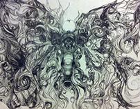 Intricate Butterfly-Elephant