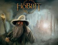 Hobbit Movie Poster - Gandalf the Gray - Painting