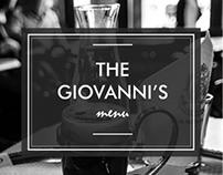 The Giovanni's menu