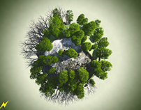 Little Big Planets: 3d Ecosystem Illustrations