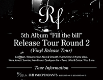 Flayer of RF's 5th Album Release Tour Round 2