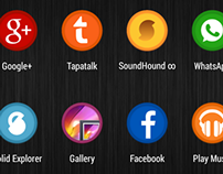 Circular icons for Android