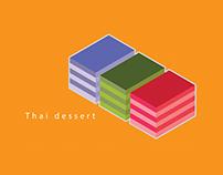 Thai dessert icon project