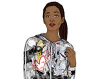 adidas Originals x Topshop Collaboration Sketches