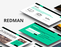 Redman One Page Portfolio