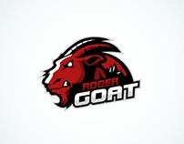 Roger Goat Mascot Logo