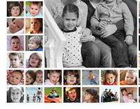Familie collage canvas