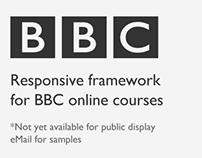Responsive framework for BBC online courses