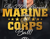 239th Marine Corps Ball Posters & Program