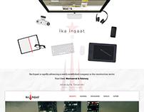İka İnşaat - Web Interface Design