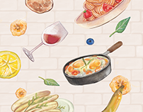 Watercolor Cookbook Illustrations