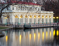 A Boathouse Through the Seasons