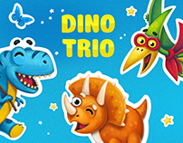 Dino Trio. Cute Stickers for iMessage