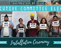 EC Installation Poster for Toastmasters Of Delhi