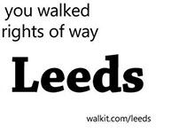 You on foot in Leeds. Typographic poster.