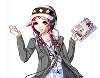 Shojo Beat Magazine Mascot Beat Girl