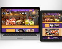 Majerle's restaurant conceptual website design mock