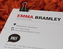 Emma Bramley Resume